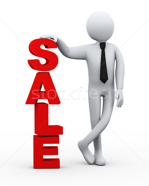 3d businessman sale word presentation Stock photo © ribah