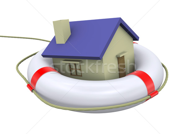 3d home on lifesaver Stock photo © ribah