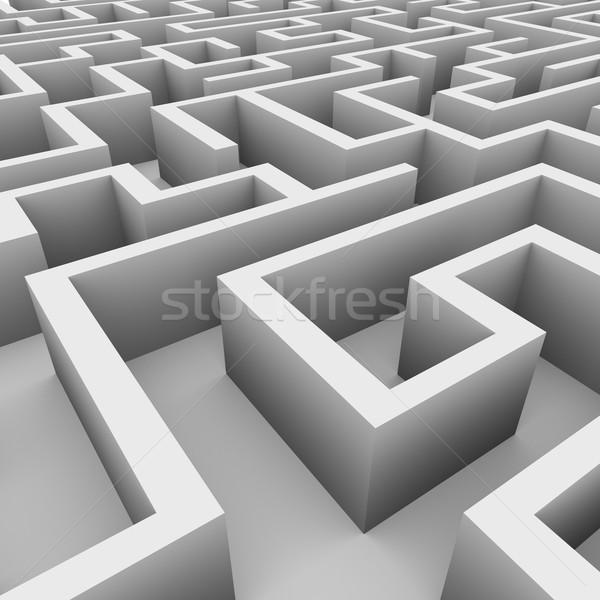 3d view of endless maze Stock photo © ribah