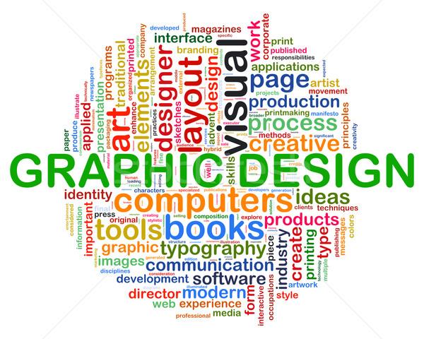 Web design wordcloud Stock photo © ribah