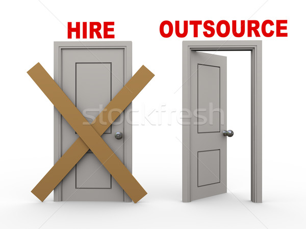 3d hire and outsource doors Stock photo © ribah