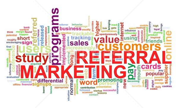 Word tags of referral marketing Stock photo © ribah