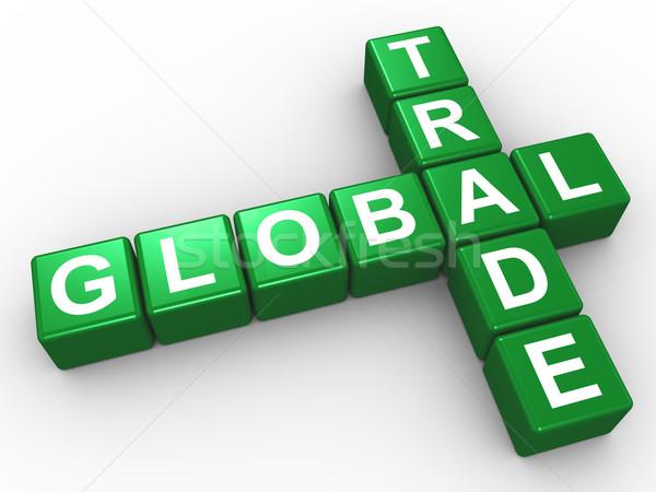 Crossword of global trade Stock photo © ribah