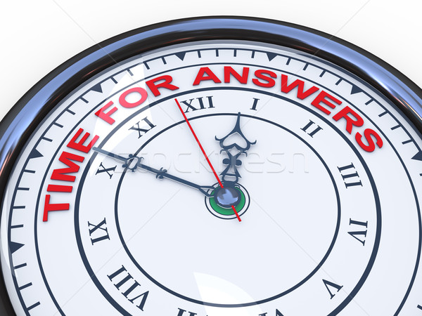3d clock - time for answers Stock photo © ribah