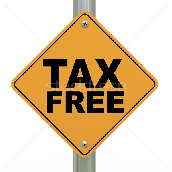 3d road sign tax free Stock photo © ribah