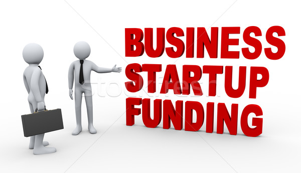 3d businessman startup funding Stock photo © ribah