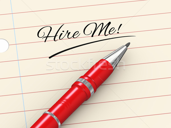 3d pen on paper - hire me Stock photo © ribah