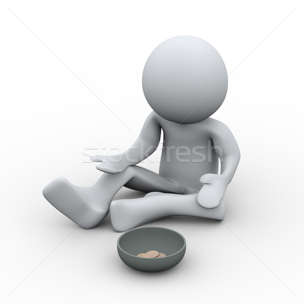3d person beggar Stock photo © ribah