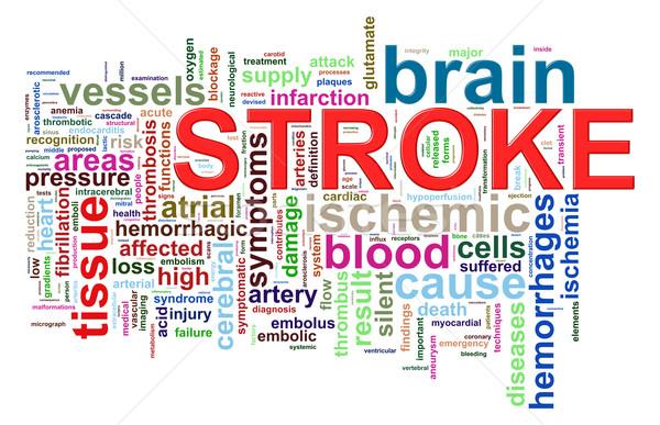 Word tags of brain stroke Stock photo © ribah