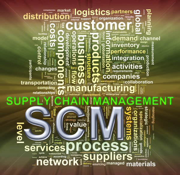 SCM word tags wordcloud Stock photo © ribah