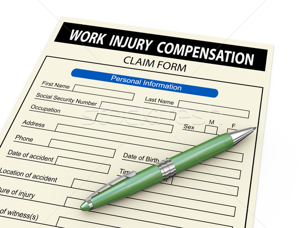 3d work injury compensation claim form Stock photo © ribah