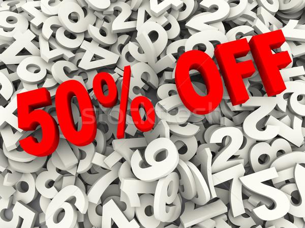 3d 50 percent off Stock photo © ribah