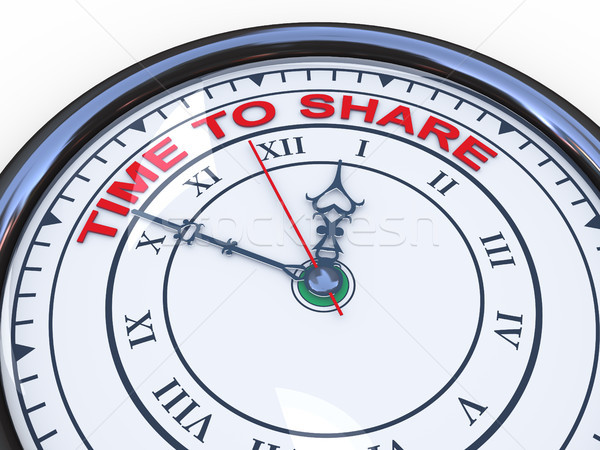 3d time to share clock Stock photo © ribah