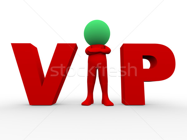 3d vip - very important person Stock photo © ribah