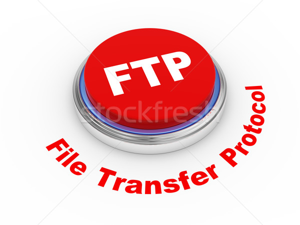 3d FTP button Stock photo © ribah