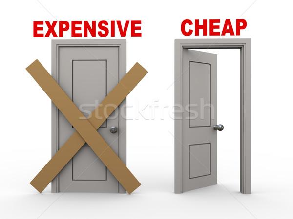 3D pahalı şimdi ucuz 3d illustration kapalı Stok fotoğraf © ribah