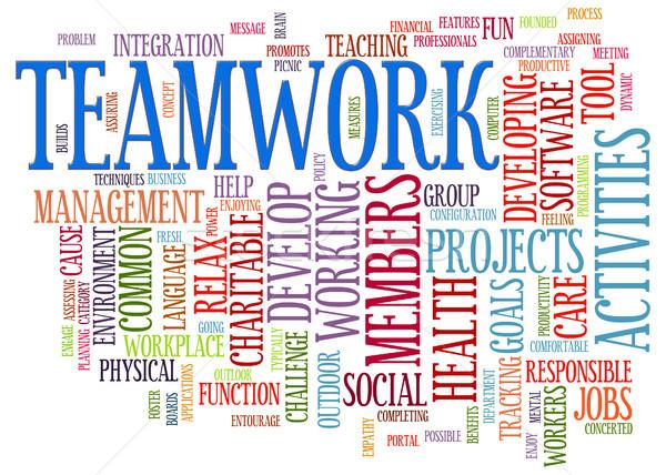 Teamwork word tags Stock photo © ribah