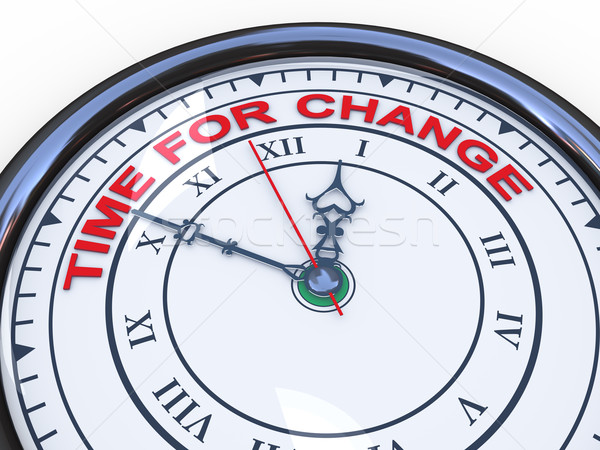3d clock - time for change Stock photo © ribah