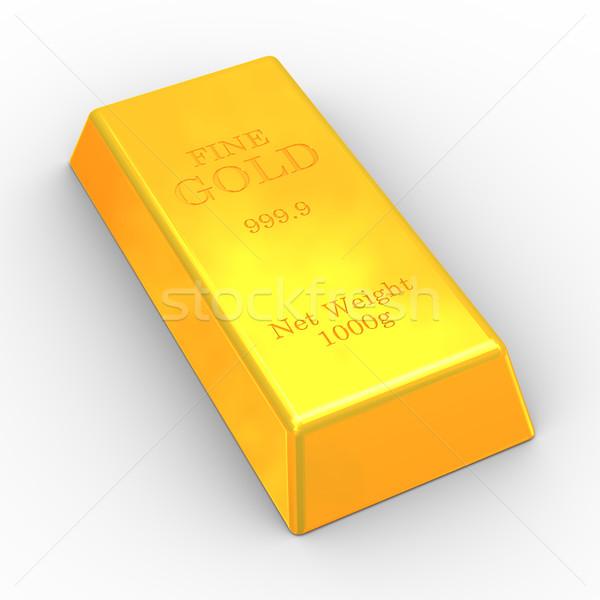 3d fine gold bar Stock photo © ribah