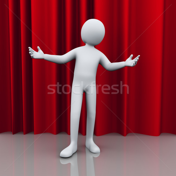 3d person stage welcome Stock photo © ribah