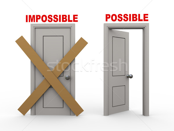3d impossible and possible doors Stock photo © ribah