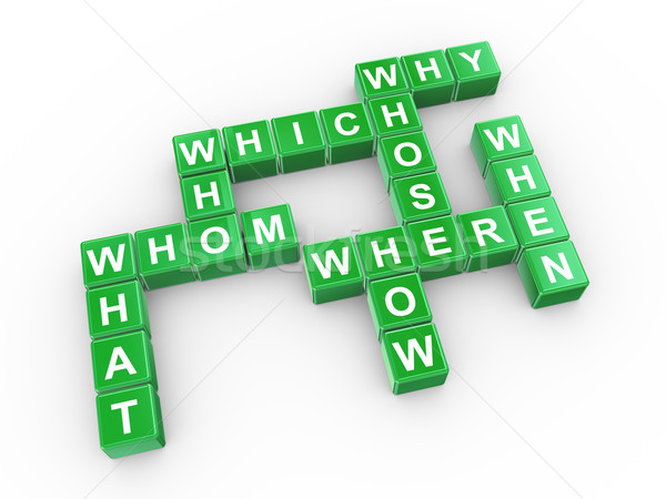 Crossword of question words Stock photo © ribah