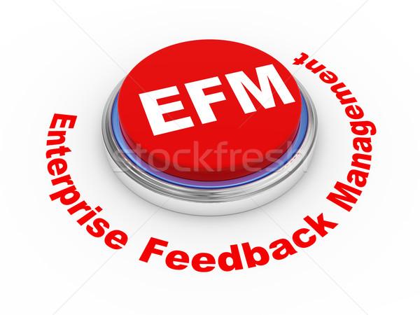 3d efm button Stock photo © ribah