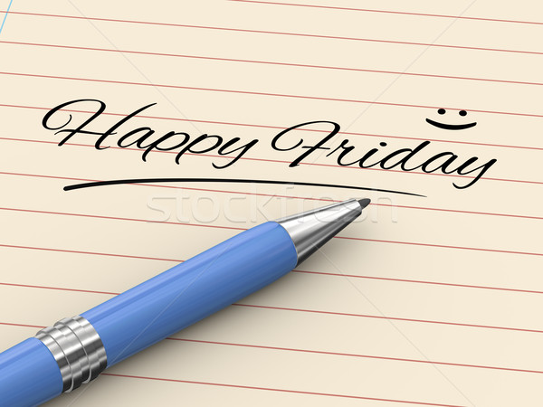 3d pen writing happy friday on paper Stock photo © ribah