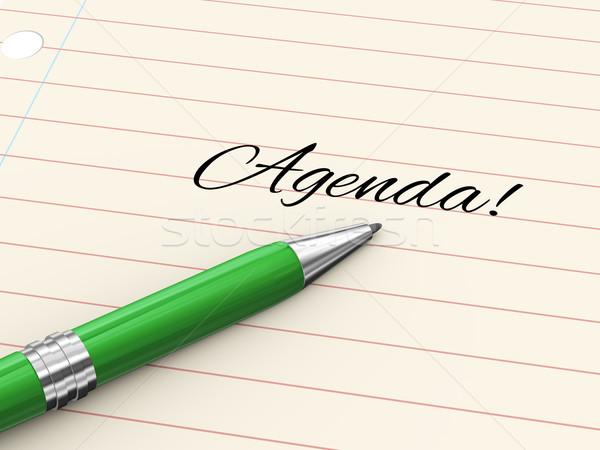 3D caneta papel agenda 3d render escrito Foto stock © ribah