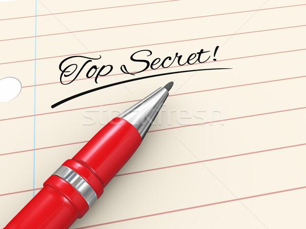3d pen on paper - top secret Stock photo © ribah