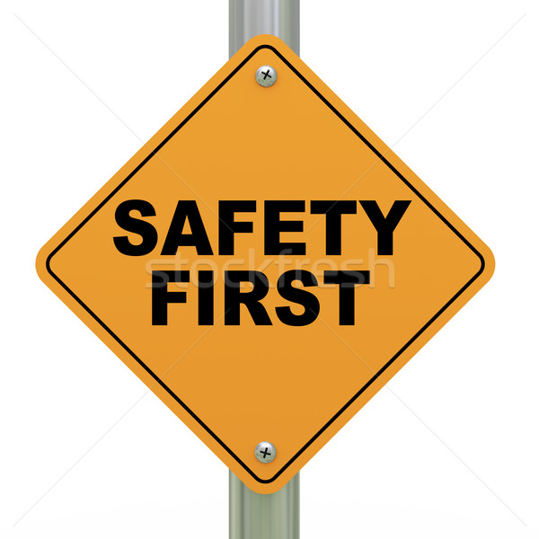 3d safety first signboard Stock photo © ribah