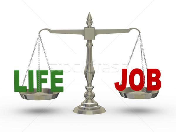 3D vida trabalho escala ilustração 3d palavra Foto stock © ribah