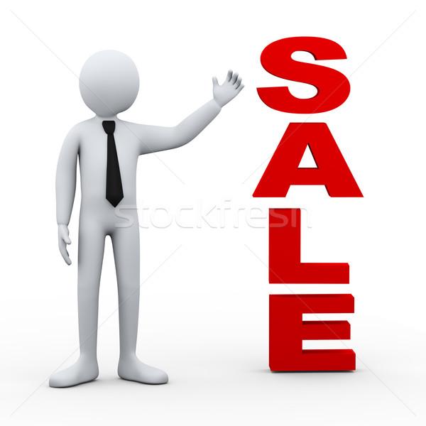 3d man sale word presentation Stock photo © ribah
