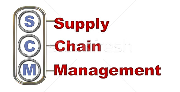 3d scm - supply chain management Stock photo © ribah