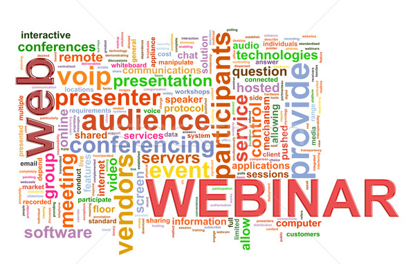 Webinar Wort Tags Illustration Internet Stock foto © ribah
