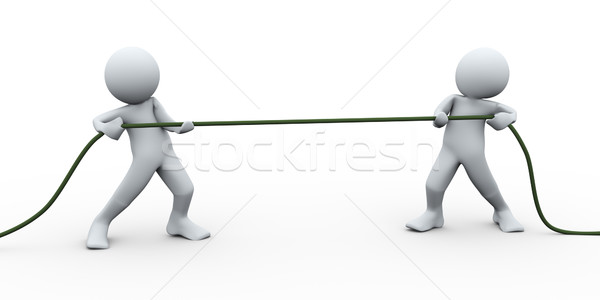 3d perople pulling rope Stock photo © ribah