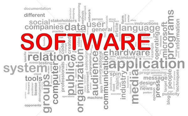 Software word tags Stock photo © ribah