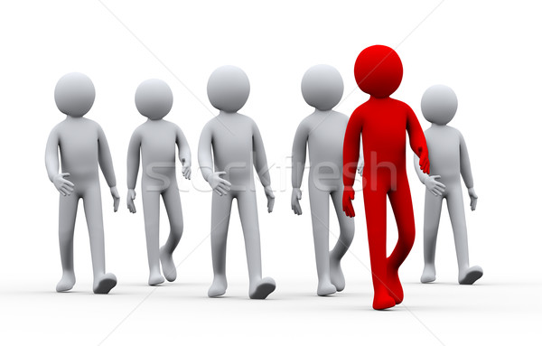 3d unique successful man - leadership concept Stock photo © ribah