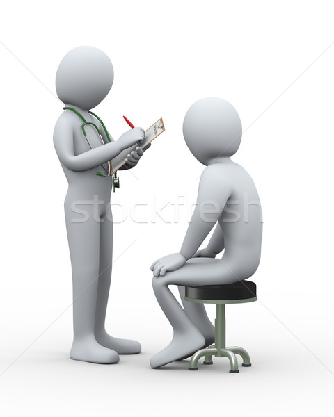3d doctor writing patient medical record Stock photo © ribah