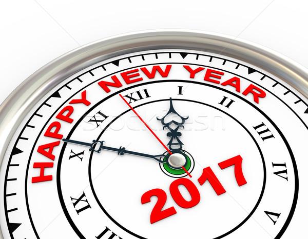 3d new year 2017 clock Stock photo © ribah