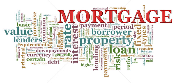Word tags of Mortgage Stock photo © ribah