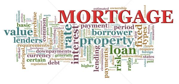 Palabra etiquetas hipoteca ilustración Internet Foto stock © ribah
