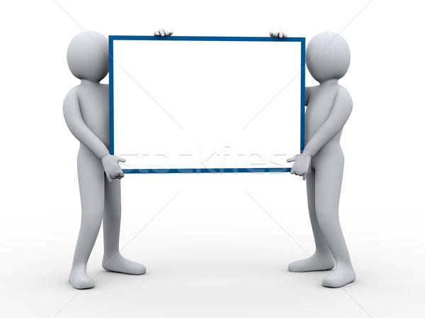 3d pessoas cartaz ilustração 3d grupo homem Foto stock © ribah