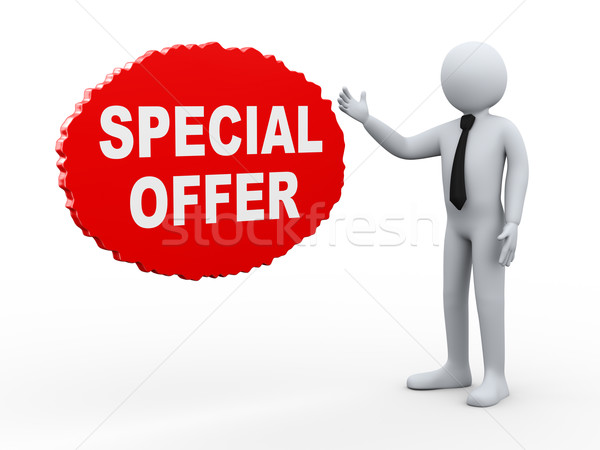 3d businessman special offer Stock photo © ribah