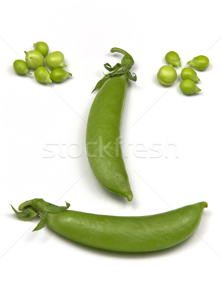 Erwten vers groene witte Stockfoto © ribeiroantonio