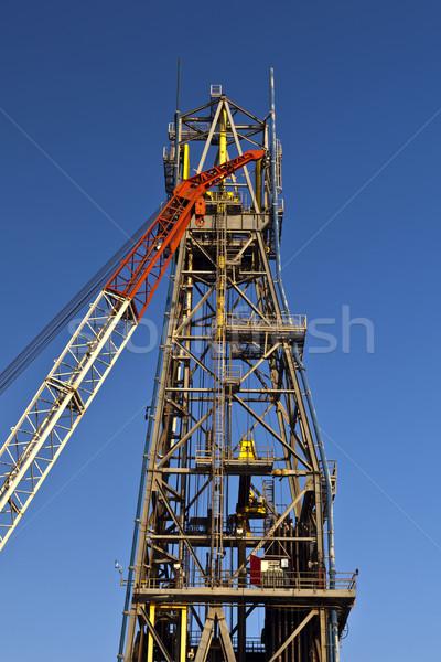 Stockfoto: Kraan · offshore · boren · staal · witte