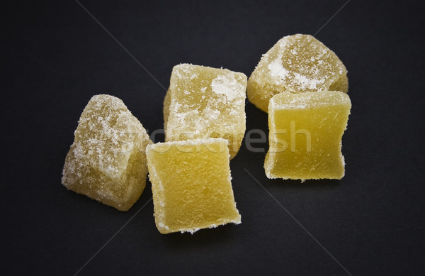 Candied Ginger Cubes Stock photo © ribeiroantonio