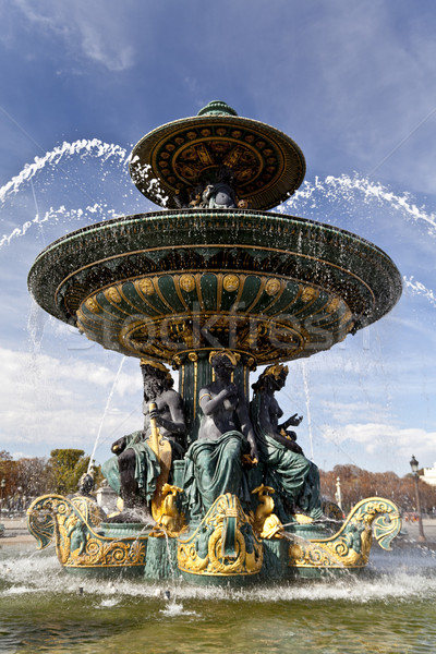 Fountain at Concorde in Paris Stock photo © ribeiroantonio