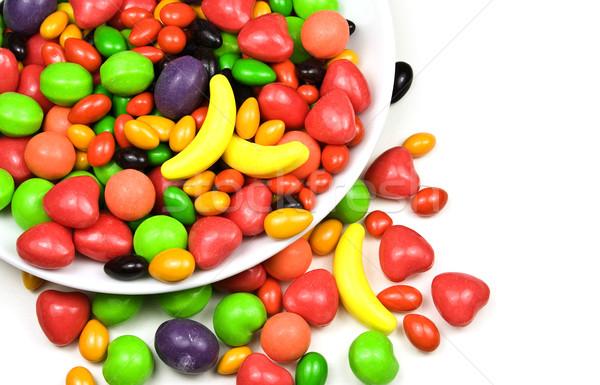 Snoep veelkleurig witte voedsel abstract Stockfoto © ribeiroantonio