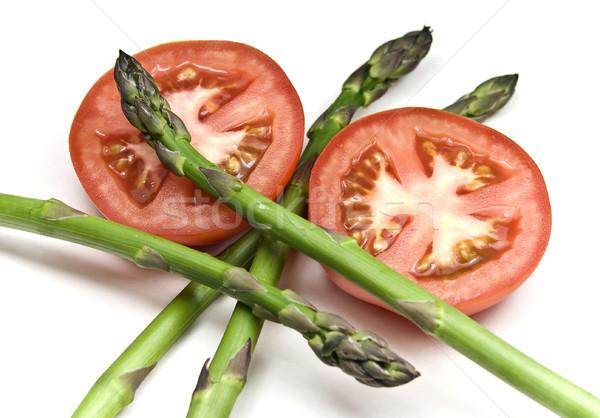 アスパラガス トマト 新鮮な 孤立した 白 食品 ストックフォト © ribeiroantonio